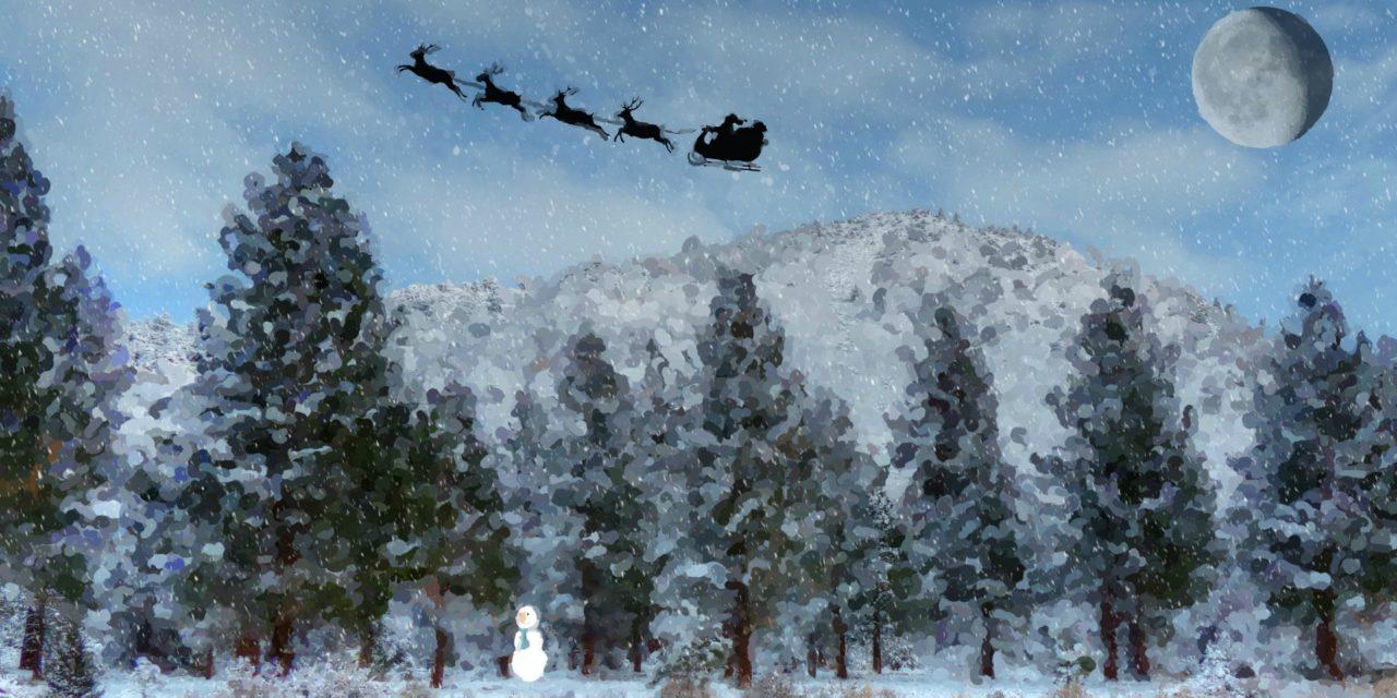 How does Santa travel around